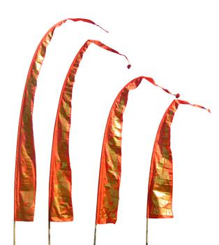 Drachenfahnen-Stoff GOLD DRAGON mit herzförmiger Spitze, verschiedene Farben und Längen, Balifahne, Bali Flag – Bild 4