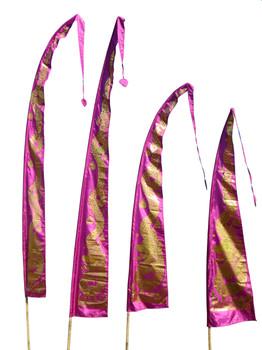 Drachenfahnen-Stoff GOLD DRAGON mit herzförmiger Spitze, verschiedene Farben und Längen, Balifahne, Bali Flag – Bild 1