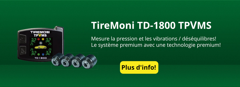 TPVMS pression des pneus TD-1800-X TireMoni et un système de commande de vibrations, capteurs externes