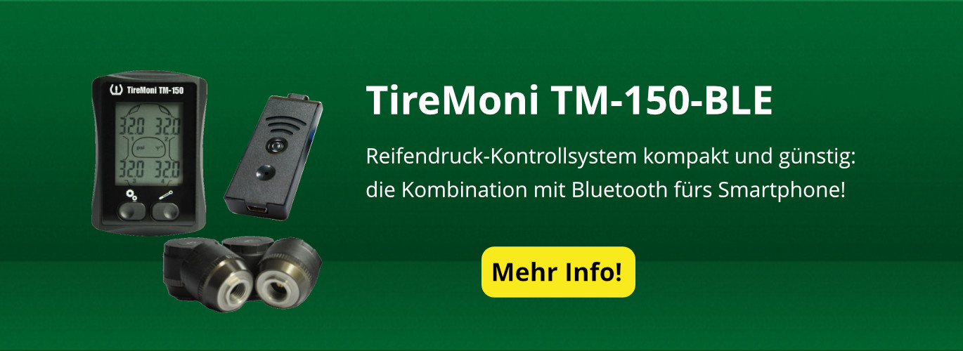 Reifendruck-Kontrollsystem TireMoni TM-150-Bluetooth Smart