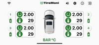 TireMoni STM-572-S4X Smartphone TPMS Kit, 4 Sensoren bis 5,5 Bar – Bild 3