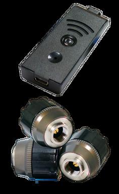 TireMoni STM-572-S3X-2 Smartphone TPMS Kit, 3 Sensors up to 12,5 Bar / 180 psi – Bild 1