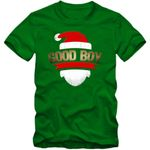 Weihnachten Good Boy T-Shirt Kinder Weihnachtsmütze Weihnachten Christmas Xmas Weihnachtsfeier Kindershirt