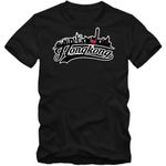 Skyline T-Shirt Herren Hongkong China Stadtsilhouette Globetrotter Städtereise Herrenshirt