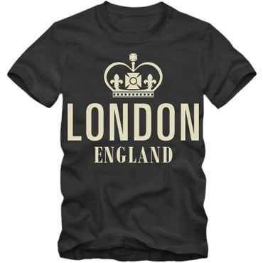 London T-Shirt Großbritannien Shirt Herrenshirt UK Cityshirt Tee