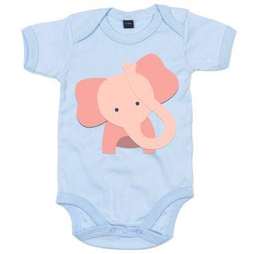 Elefant 01 Babystrampler Strampler Bodysuit Babybody Babyeinteiler OEKO-TEX ® 100 Standard
