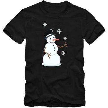 Christmas T-Shirt #12 Schneemann Heilig Abend Weihnachten Nikolaus Frohes Fest Herrenshirt