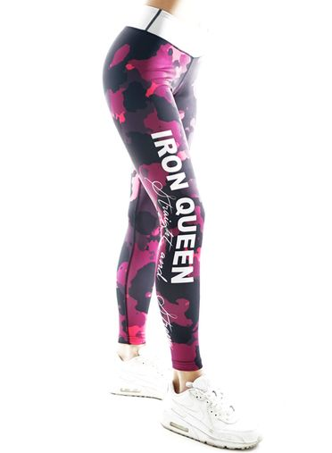 Iron Queen Pink Fitness Leggings by Straight and Strong