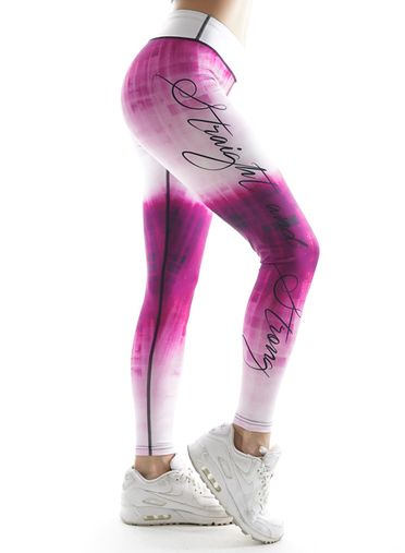 Pink Galaxy One Fitness Leggings by Straight and Strong