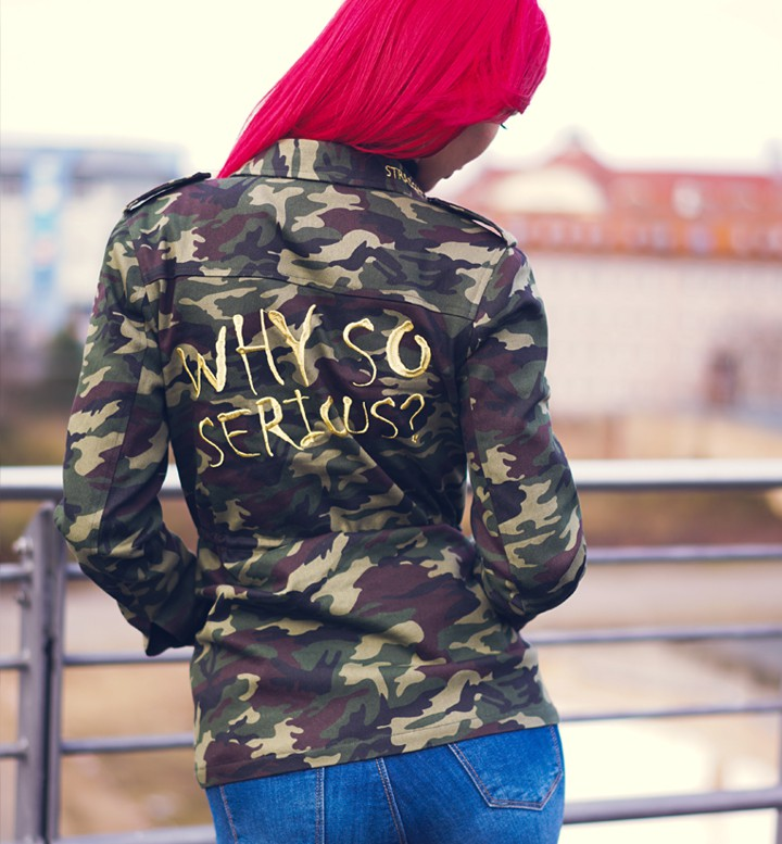 Why so serious Camo Parka by Straight and Strong 001