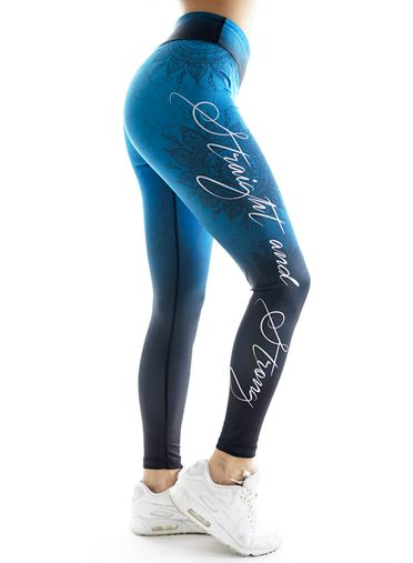 Mandala Fitness Leggings by Straight and Strong