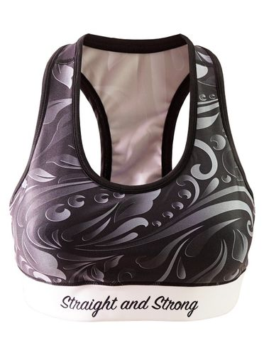 Floral Sports Bra by Straight and Strong
