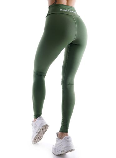 Athletic Power Olive Fitness Leggings by Straight and Strong