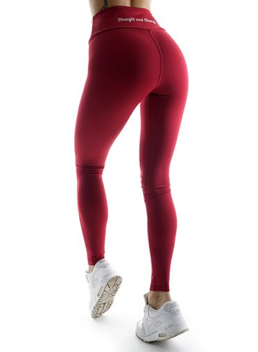 Athletic Power Bordeaux Fitness Leggings by Straight and Strong