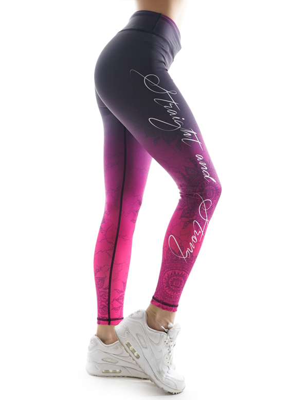 Mandala Flush Fitness Leggings by Straight and Strong 001
