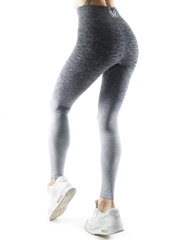 Seamless Ombre grey Fitness Leggings by Straight and Strong 001
