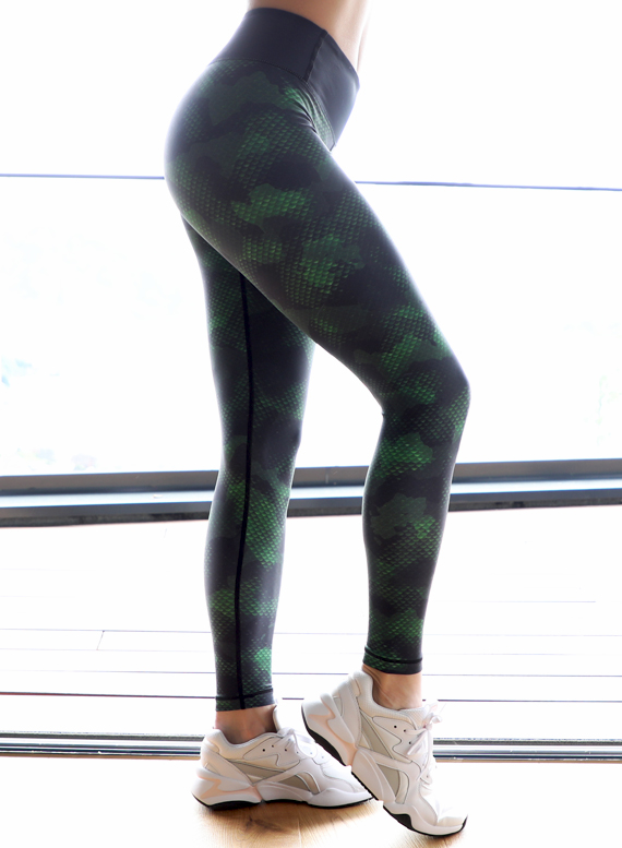 Camo Snake Fitness Leggings by Straight and Strong 001