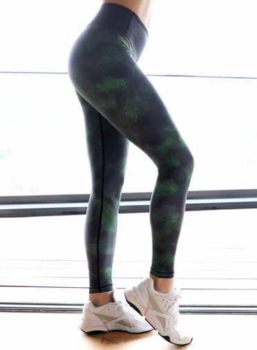 Camo Snake Fitness Leggings by Straight and Strong