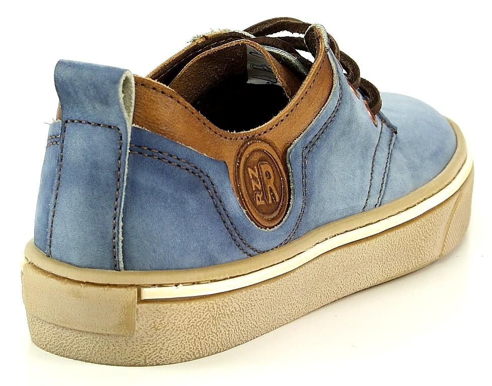 Vado RZZ Owen Schnürschuh blau jeans braun antik