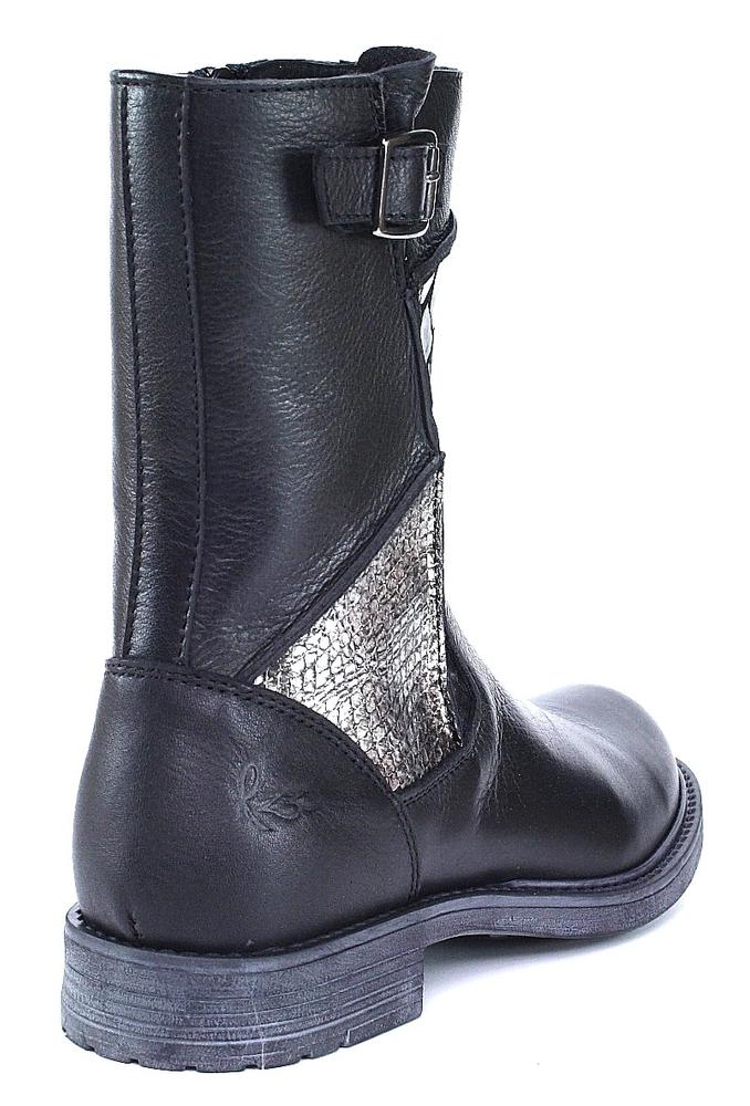 Vado RZZ Trixy Stiefel schwarz metallic Prägung Reptil