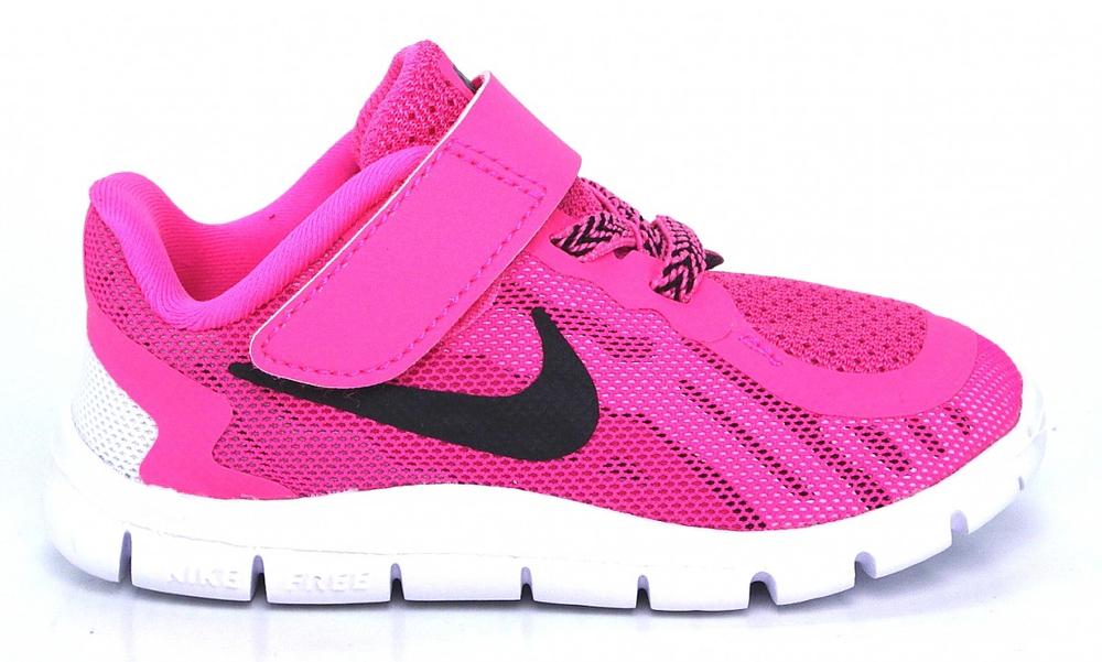 Nike Free 5 pink Klett Gummizug Schnürung Kinder