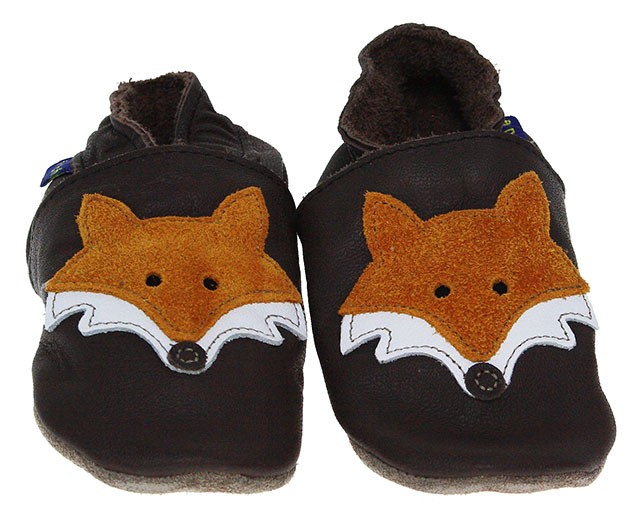 Inch Blue | Krabbelschuh Mr. Fox | braun