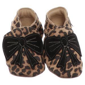 Inch Blue | Bow Krabbelschuh | beige - leopard schwarz