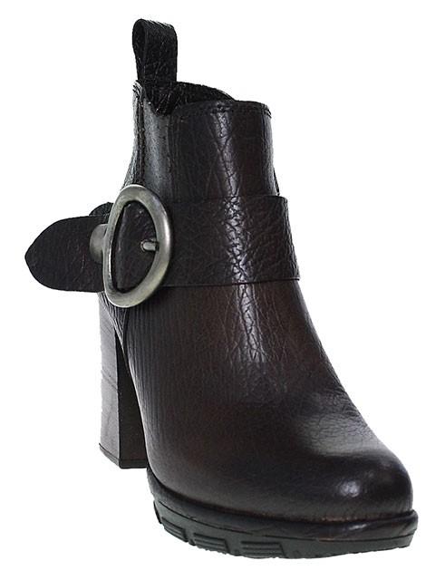 Mjus Stiefelette Ankle Boot Blockabsatz | braun cacao