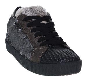 Donna Carolina Sneaker Pailletten-schwarz | piper stone