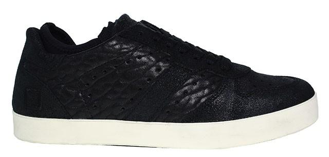 D.A.T.E. Herren Sneaker | Court Socks Pop - schwarz