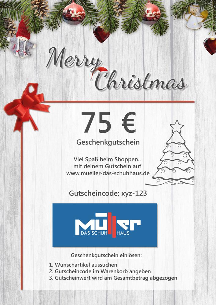 Geschenkgutschein Weihnachten 75€