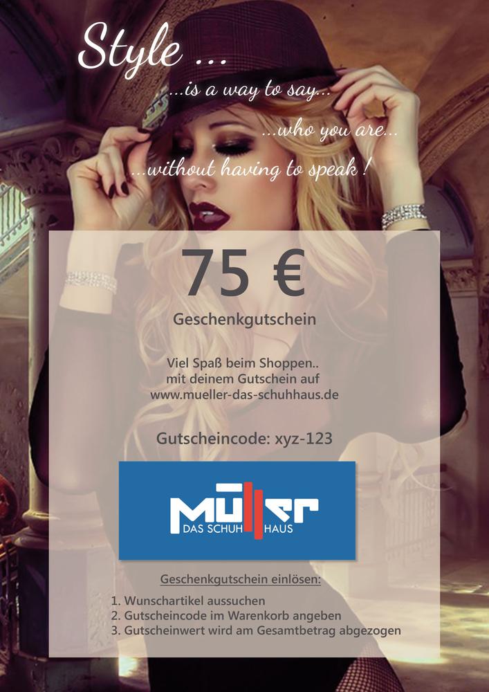 Geschenkgutschein Style 75€