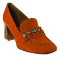Zinda | Hochfront Pumps - orange