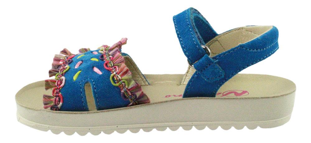 Naturino | Mädchen Sandale mit Fransen - blau | sky