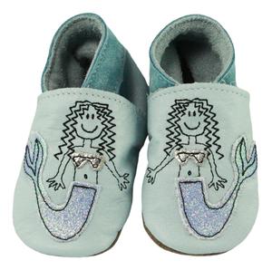 Inch Blue | Mermaid | Krabbelschuh - blau | baby blue
