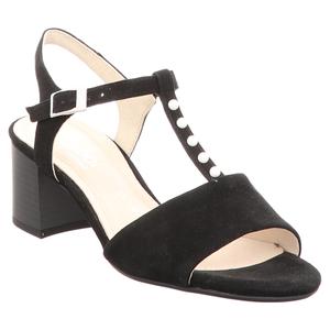 Gabor | Comfort | Sandalette | Perlenbesatz - schwarz