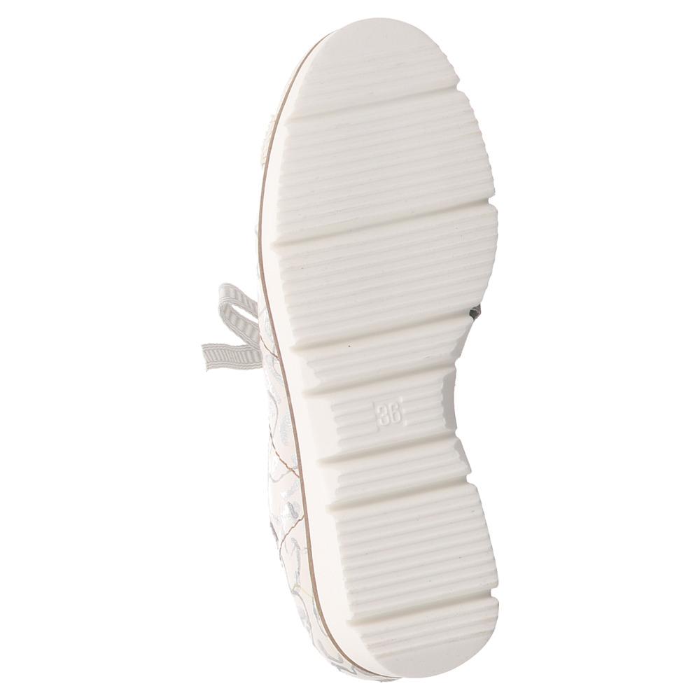 Charme   Schnürer   Sneaker - weiss   grau   metallic