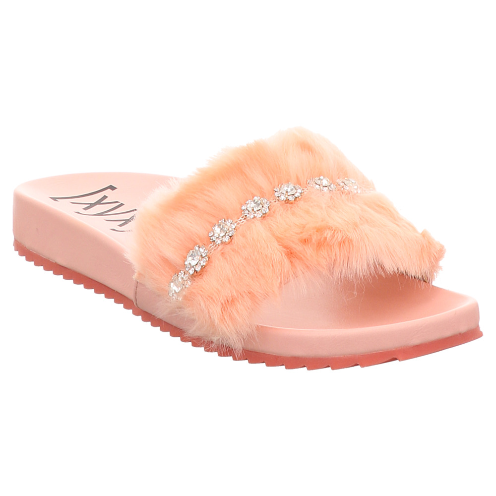 XYXYX   Fur-Slides   Pantolette - rosa   pink