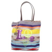 Anokhi | Mahal | Shopper Bag - bunt | ikat stripes