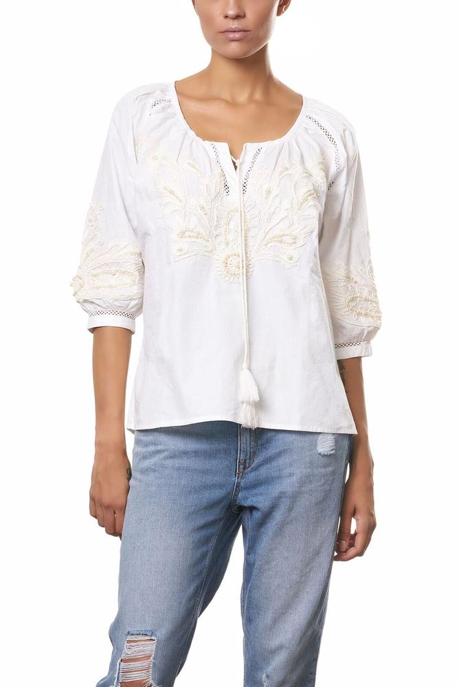 Anokhi   Antigua   Bluse - weiß