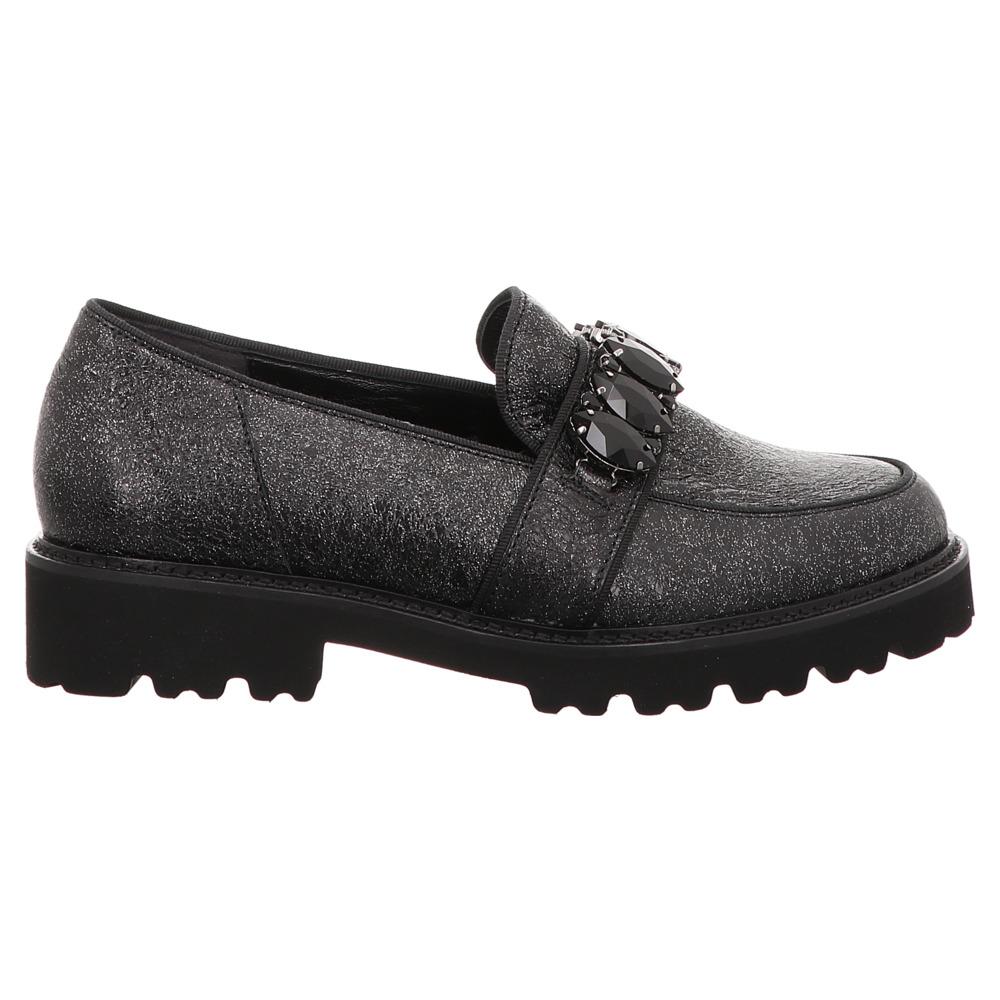 Gabor | Loafer | Mokassin | Glitter Crash - schwarz