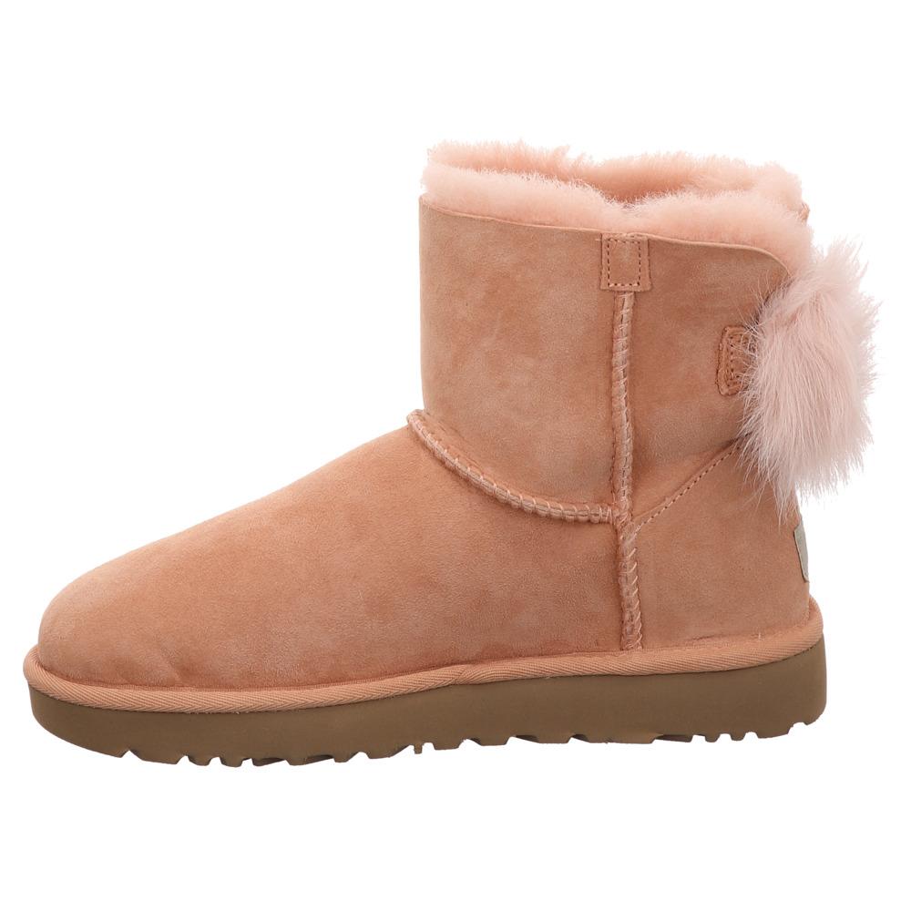 UGG | W Fluff Bow Mini | Boots - pfirsischfarben | suntan