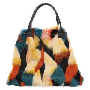 Fake Fur | Shopper Bag - grün | bunt