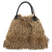Fake Fur | Shopper Bag - braun | beige