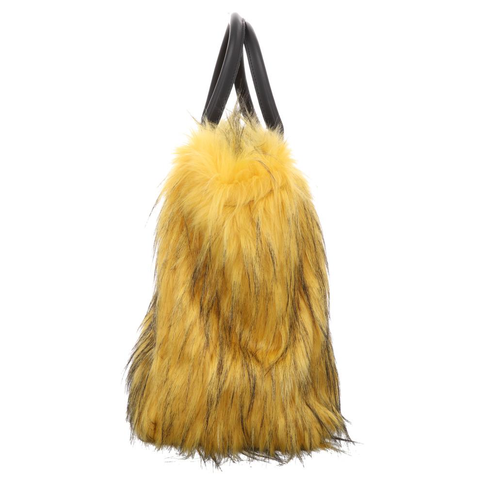 Fake Fur | Shopper Bag - gelb
