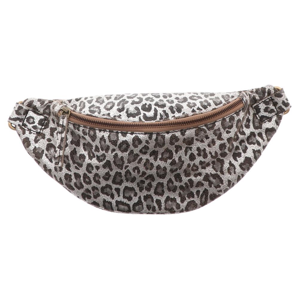 Anokhi | Belt Bag | Gürteltasche - silber | leo metallic
