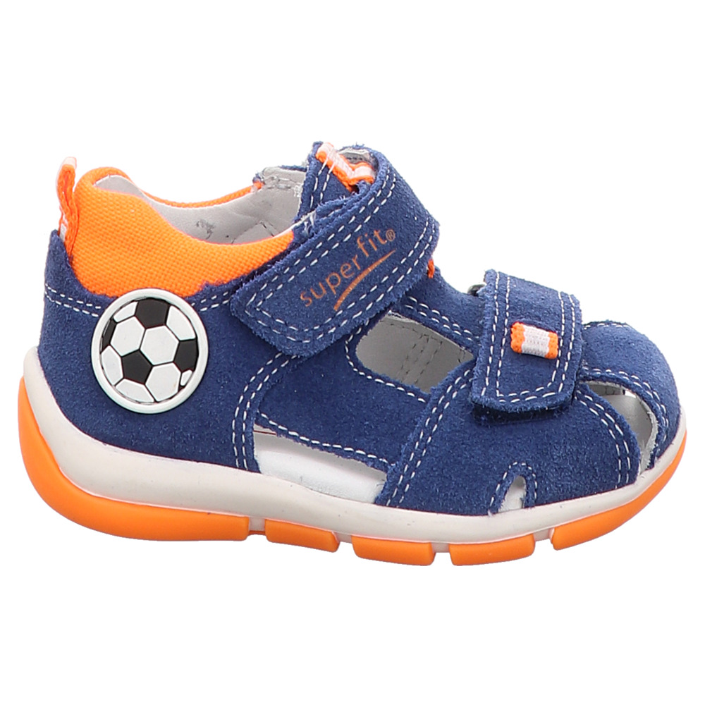 Superfit | FREDDY | Jungen Lauflern Sandale - blau | orange