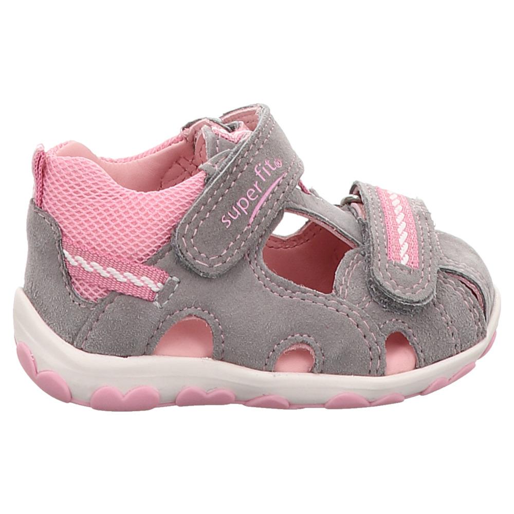 Superfit | Fanni | Lauflern Sandale - grau | rosa