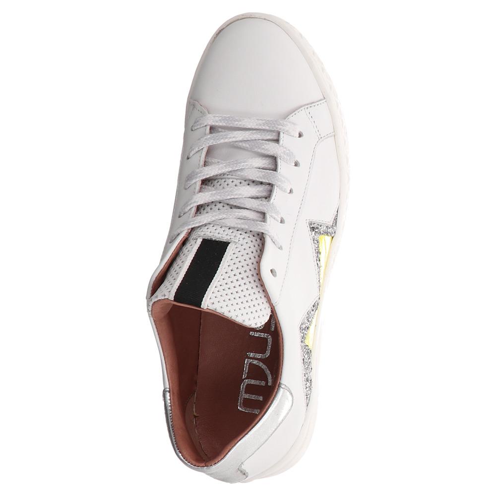Mjus | Sneaker | Schnürschuh - weiß | gelb