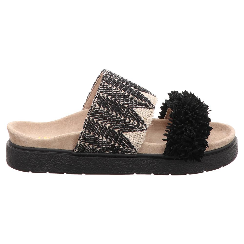 Inuikii   Raffia Striped   Pantolette - schwarz   black